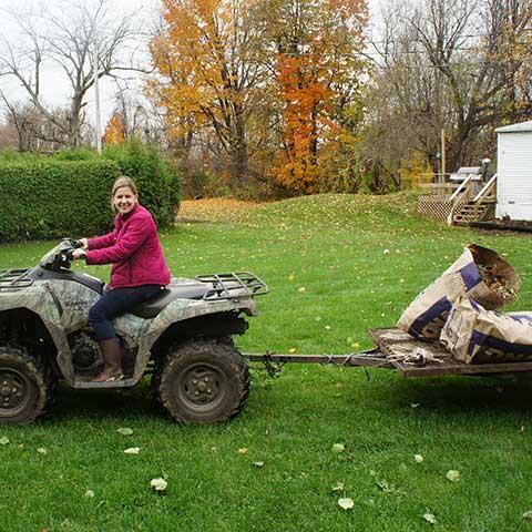 Fall yard cleanup